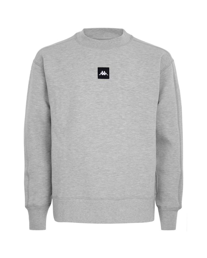 kappa AUTHENTIC JPN BARIN fleece jumper (grey md mel-white)
