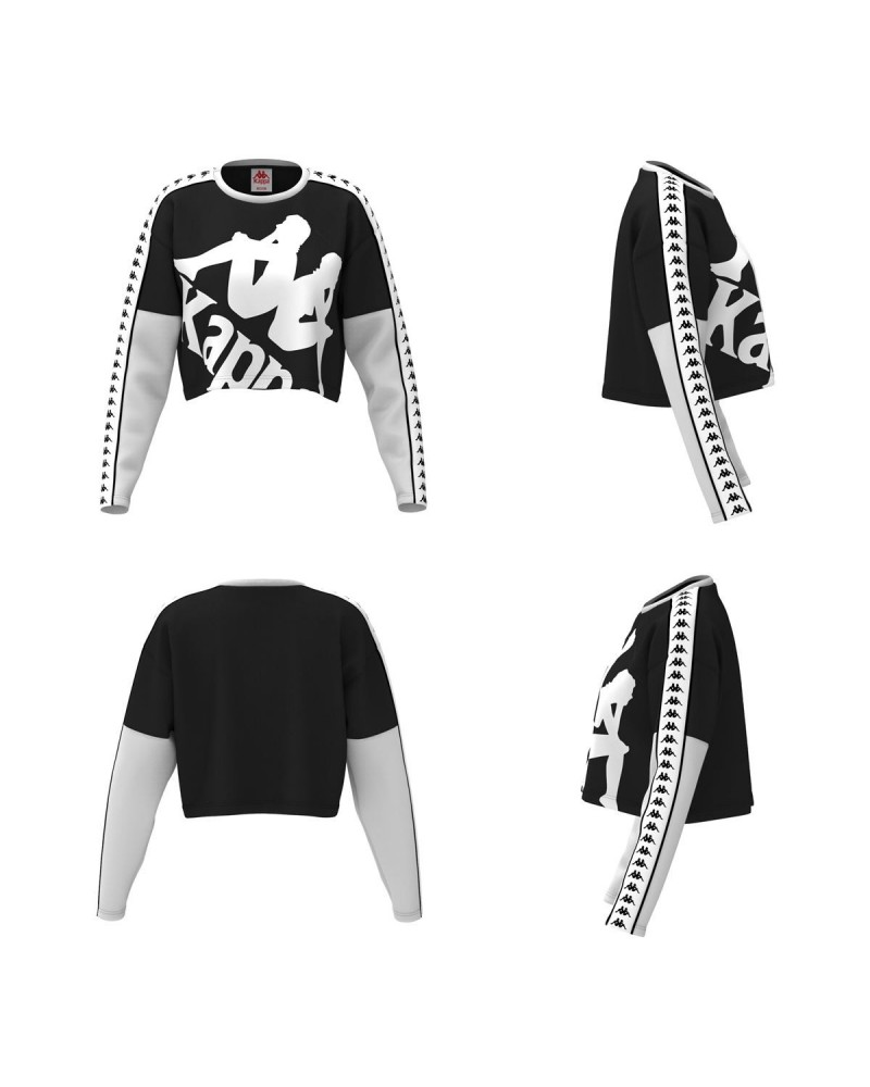kappa BANDA COCHI fleece jumper( black-white-white)