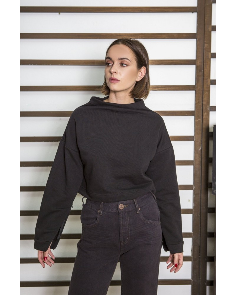 tag modest clothing PRISCA sweater black