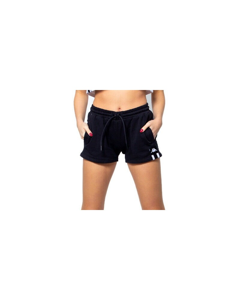 kappa AUTHENTIC LA CAZAKO SHORTS (BLACK-WHITE)