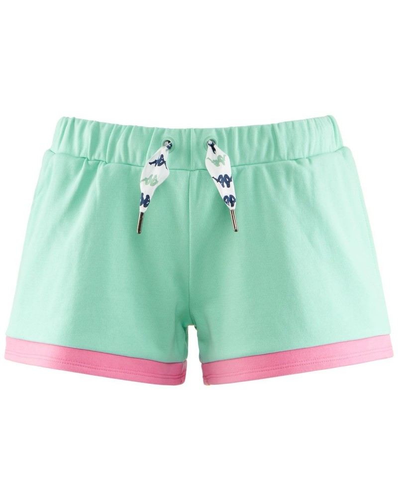 kappa AUTHENTIC SAND COLTA SHORTS (GREENAQUA-PINK-WHITE)