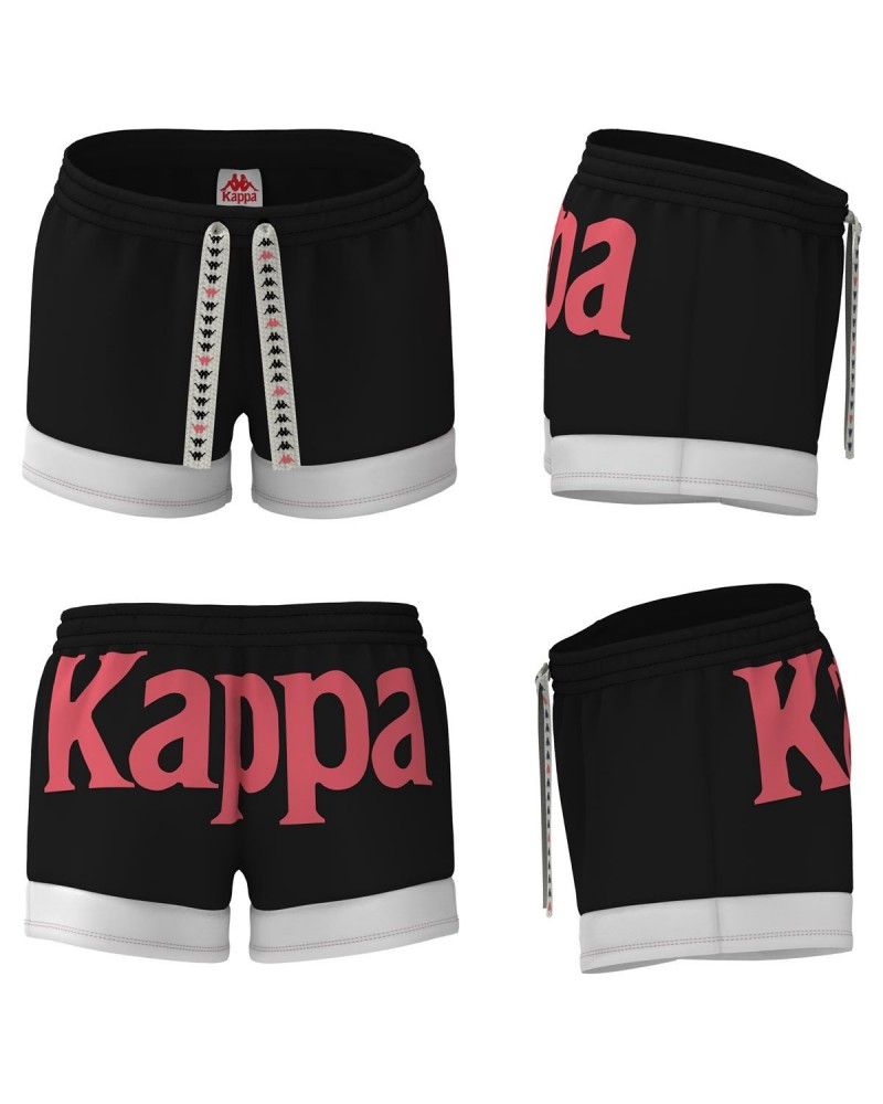 kappa AUTHENTIC SAND COLTA SHORTS (BLACK-WHITW-RED)