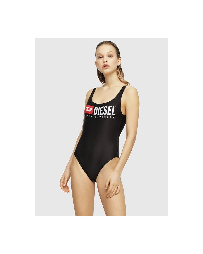 diesel BFSW-FLAMNEW one-piece black swimsuit with logo