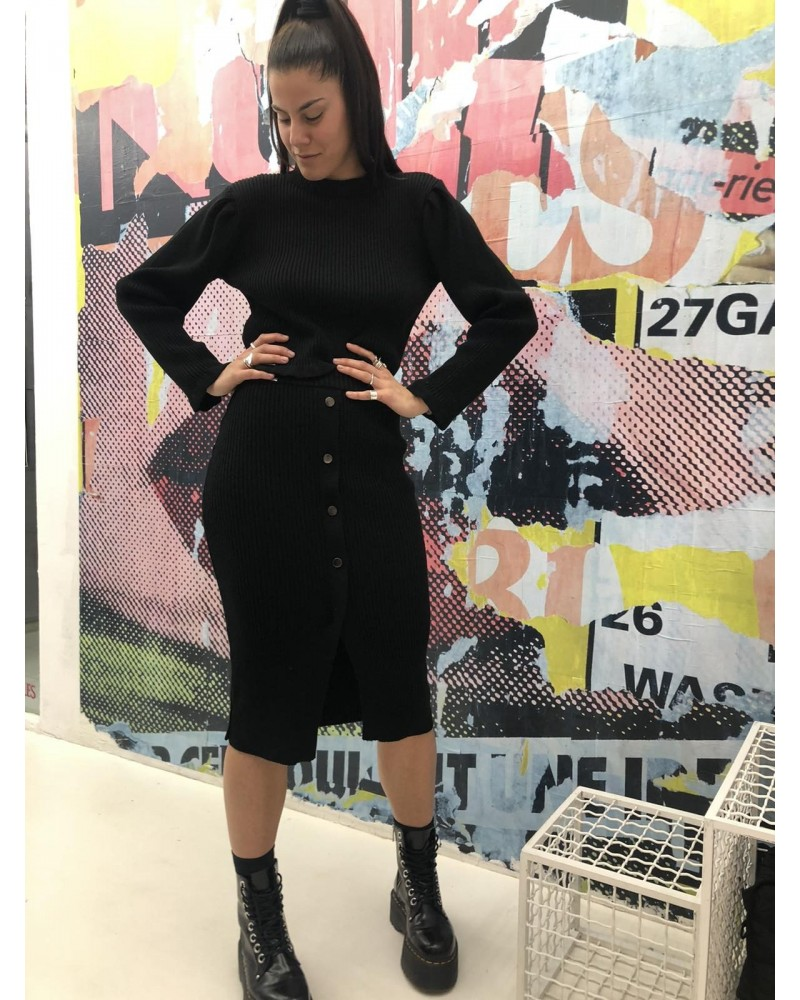 combos knitwear W-37skirt black
